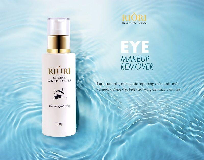 Nước tẩy trang mắt môi Riori Lip & Eye Makeup Remover phù hợp với mọi loại da