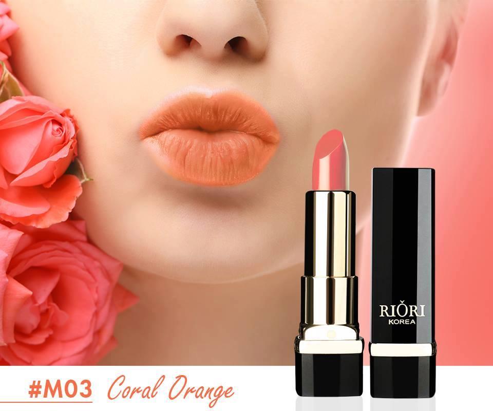 M03: Son lì màu cam đất (Coral Orange)