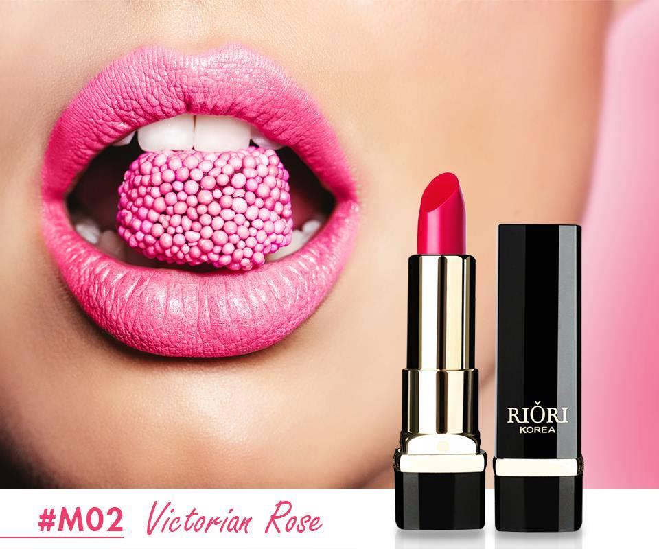 M02: Son lì màu hồng cánh sen (Victorian Rose)