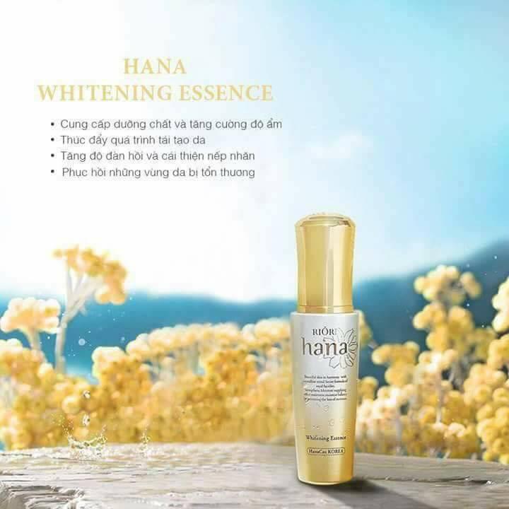 Tinh chất dưỡng trắng da Riori Hana Whitening Essence tăng độ đàn hồi và cải thiện nếp nhăn