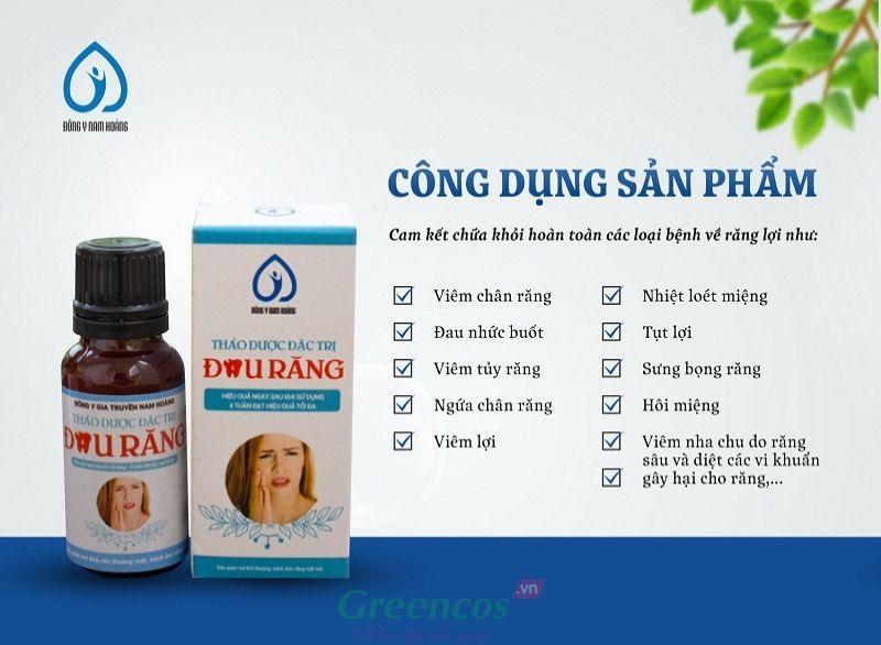 Công dụng của thuốc thảo dược đặc trị đau nhức sâu răng Nam Hoàng