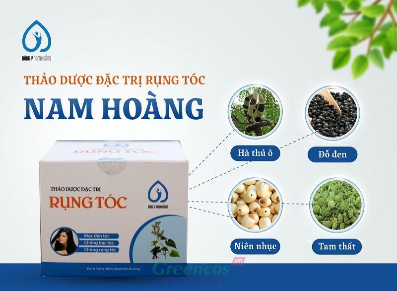 Một số thành phần chính của thuốc thảo dược đặc trị rụng tóc Nam Hoàng