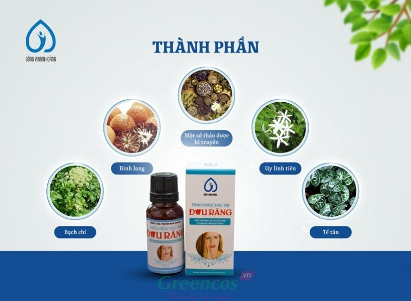 Thuốc trị đau nhức sâu răng thảo dược Nam Hoàng được bào chế từ 100% thảo dược thiên nhiên