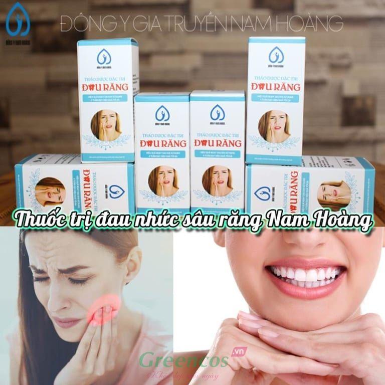 Thuốc thảo dược đặc trị đau nhức sâu răng Nam Hoàng chữa đau nhức răng dứt điểm, nhanh chóng