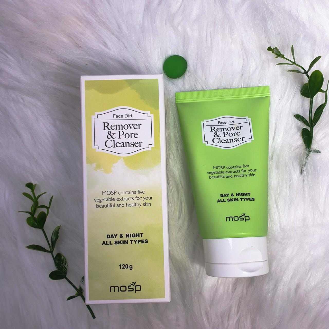 Sữa Rửa Mặt Mosp Face Dirt Remover & Pore Cleanser làm sạch & ngăn ngừa mụn hiệu quả