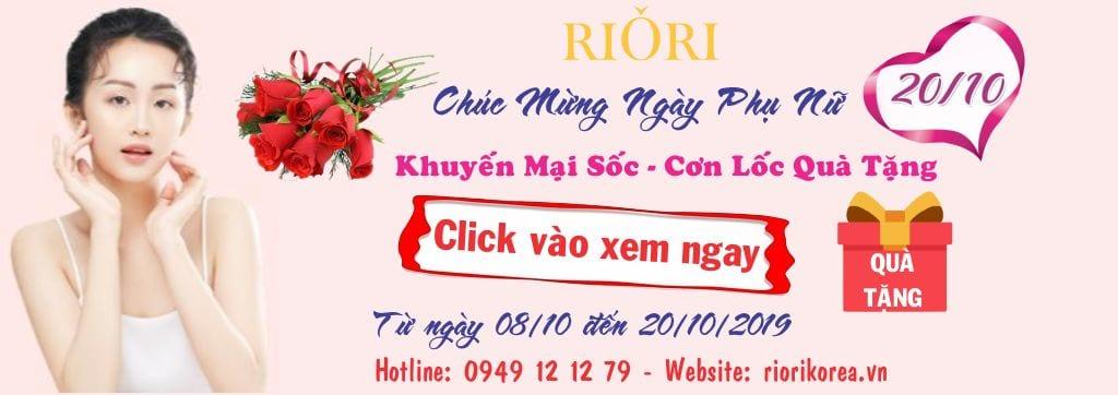 Cơ hội nhận ngay quà tặng cực sốc khi mua Mỹ phẩm Riori